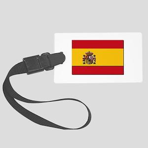 Spain Flag Large Luggage Tag