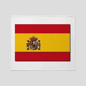 Spain Flag Throw Blanket