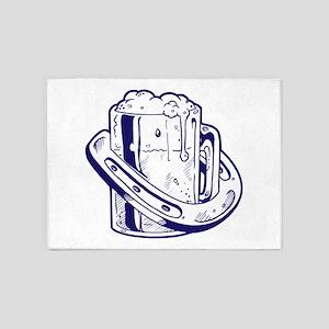 Beer & Luck 5'x7'Area Rug