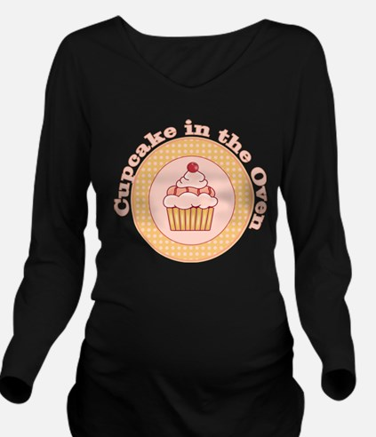 Cupcake in the Oven Long Sleeve Maternity T-Shirt