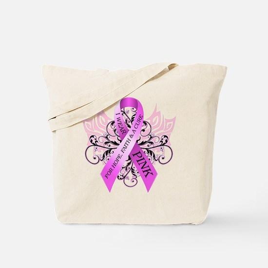 I Wear Pink for HopeFaithCure Tote Bag