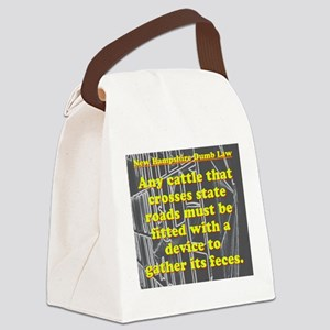 New Hampshire Dumb Law #4 Canvas Lunch Bag