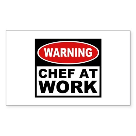 Chef at Work Rectangle Sticker
