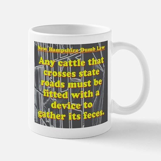 New Hampshire Dumb Law #4 Mugs