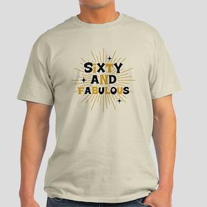 Retro Star Burst 60th Birthday Light T-Shirt