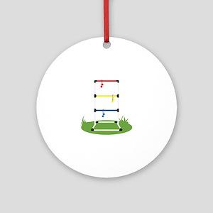 Backyard Game Ornament (Round)