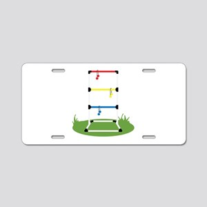 Backyard Game Aluminum License Plate