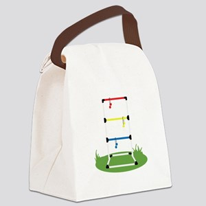 Backyard Game Canvas Lunch Bag