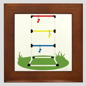 Backyard Game Framed Tile