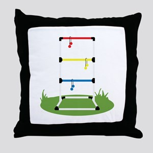 Backyard Game Throw Pillow