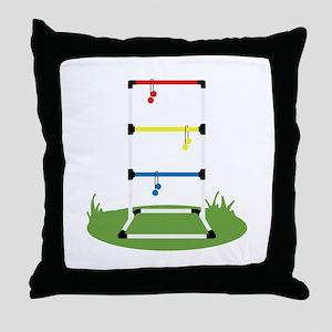 Backyard Game Throw Pillow