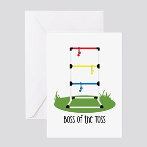 Boss of the Toss Greeting Cards