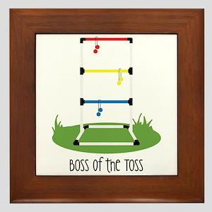 Boss of the Toss Framed Tile