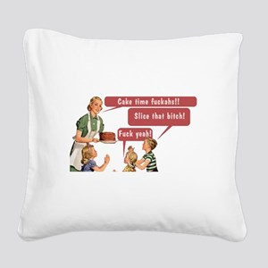 Cake Time Fun Square Canvas Pillow