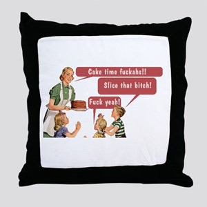 Cake Time Fun Throw Pillow