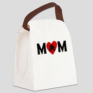 Hockey Goalie Heart Mom Canvas Lunch Bag