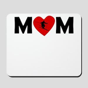 Skiing Heart Mom Mousepad