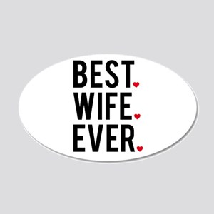 Best wife ever Wall Decal