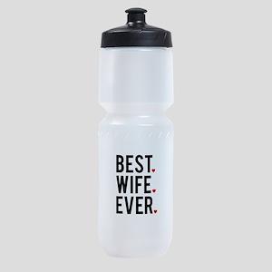 Best wife ever Sports Bottle