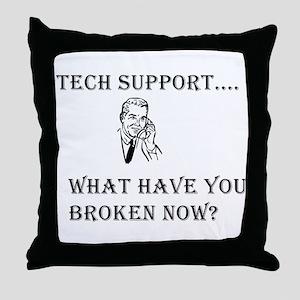 Tech Support Throw Pillow