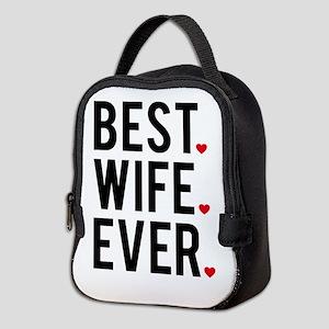 Best wife ever Neoprene Lunch Bag