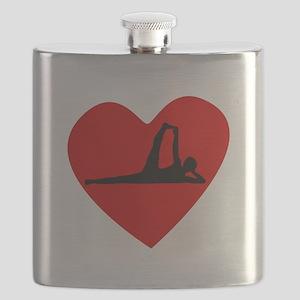 Yoga Heart Flask