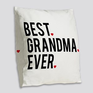 Best grandma ever Burlap Throw Pillow