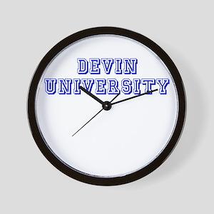Devin University Wall Clock