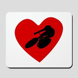 Cycling Heart Mousepad