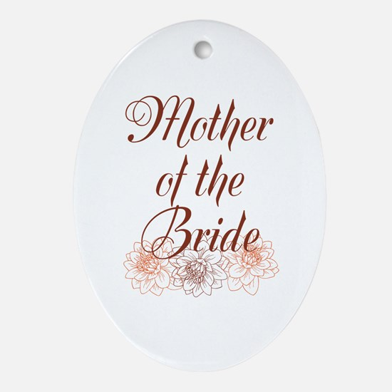 Rustic Mother of the Bride Ornament (Oval)