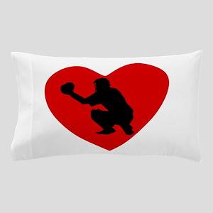 Baseball Catcher Heart Pillow Case