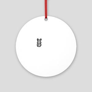 White Rabbit Series-3 Round Ornament