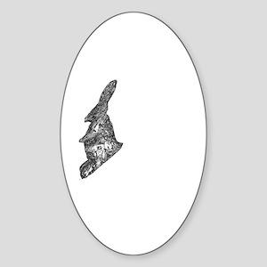 White Rabbit Series-8 Sticker (Oval)