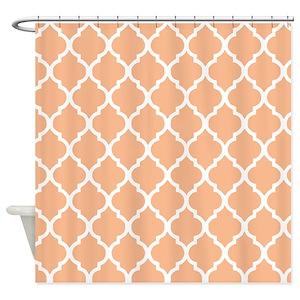 Pattern Peach Shower Curtains