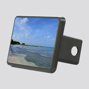 Deserted Tropical Beach in Rectangular Hitch Cover