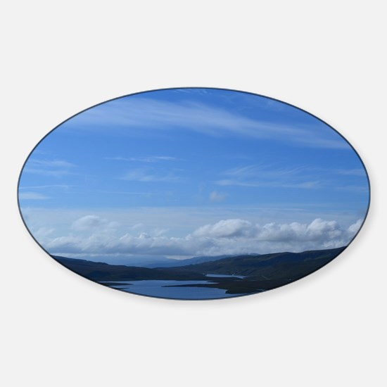 Bearreraig Bay with Blue Skies Sticker (Oval)