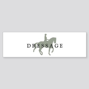 3-piaffe dressage text Bumper Sticker
