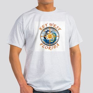 Key West Fish With Compass And Star T-Shirt