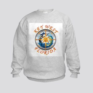 key west fish with compass and star Sweatshirt