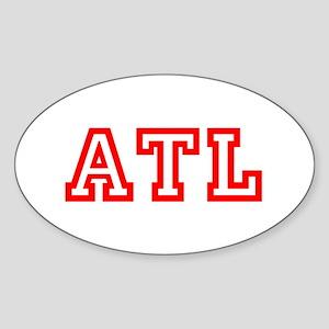 ATL - ATLANTA Sticker (Oval)