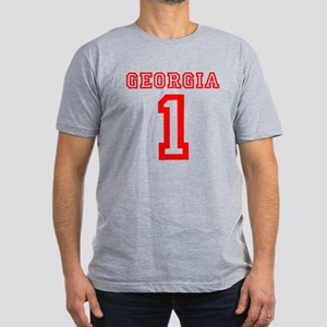 GEORGIA #1 Men's Fitted T-Shirt (dark)