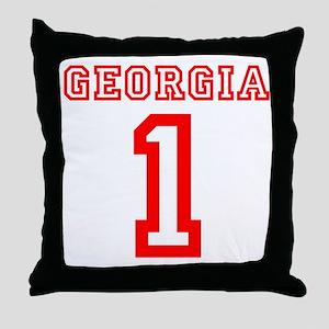 GEORGIA #1 Throw Pillow