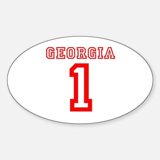 GEORGIA #1 Sticker (Oval)