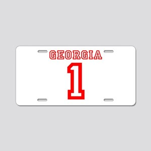 GEORGIA #1 Aluminum License Plate