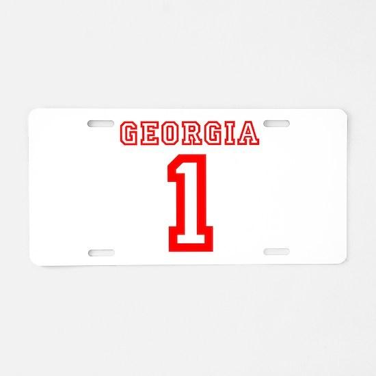 GEORGIA #1 Aluminum License Plate