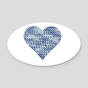 I Love to Crochet Oval Car Magnet