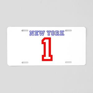 NEW YORK #1 Aluminum License Plate