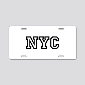 NYC Aluminum License Plate