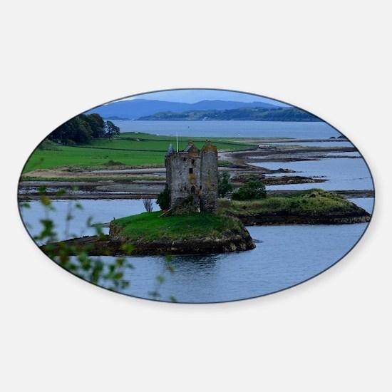 Castle Stalker in Scotland Sticker (Oval)