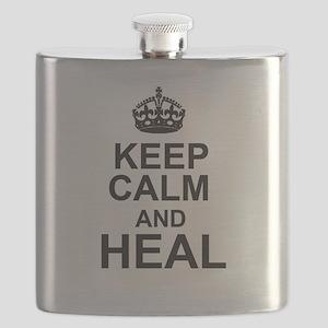 KEEP CALM and HEAL Flask